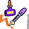 Vector Clipart graphic  of a fountain pen with ink