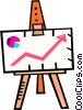 Vector Clip Art image  of a chart for success