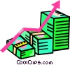 Vector Clip Art picture  of a chart for success