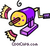 Vector Clip Art graphic  of a pencil sharpener