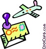 Vector Clipart image  of an air mail