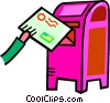 Vector Clip Art graphic  of a mailing a letter