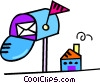 mail box with letter Vector Clipart image