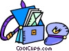 Vector Clipart picture  of a postal carriers mail bag