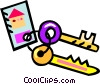 house keys Vector Clipart picture