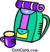 Vector Clip Art image  of a back pack