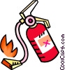 fire extinguisher Vector Clipart illustration