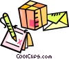 Envelope and boxes Vector Clipart illustration