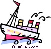 Vector Clipart image  of a ship