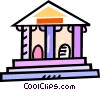 Vector Clipart image  of a bank
