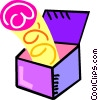 Vector Clipart graphic  of a jack in the box
