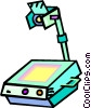Vector Clip Art graphic  of a overhead projector