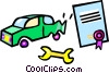 car repairs Vector Clipart illustration