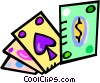 Vector Clip Art graphic  of a cards