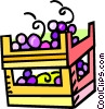Vector Clipart image  of a grapes in crates