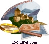 Liechtenstein postcard design Vector Clipart graphic