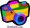 Vector Clipart image  of a 35mm camera