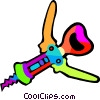 cork screw Vector Clipart illustration
