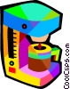 Vector Clip Art graphic  of a coffee maker