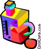Vector Clipart image  of a juice machines