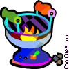Vector Clipart picture  of a camping stove