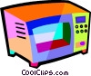 Vector Clip Art graphic  of a microwaves