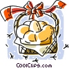 Easter eggs in a basket Vector Clipart picture