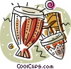 Vector Clipart graphic  of a bongo drums