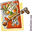 Vector Clip Art image  of a bowl of vegetables