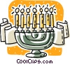 Vector Clip Art image  of a Jewish Menorah