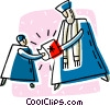 Vector Clip Art picture  of a first confirmation