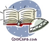 Vector Clip Art graphic  of a book of David
