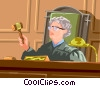judge at the bench Vector Clipart illustration