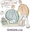 Vector Clipart picture  of a Customs officer