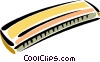 Vector Clipart illustration  of a harmonica