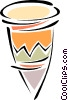 Vector Clip Art graphic  of a bongo drum