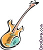 Vector Clip Art graphic  of a electric guitars