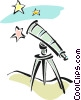 Vector Clipart graphic  of a telescopes