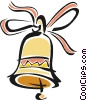 ribbons and bells Vector Clipart illustration