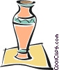 Vector Clip Art graphic  of a vases
