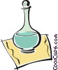 Vector Clipart illustration  of a wine decanters