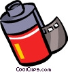 Vector Clip Art picture  of a film canisters