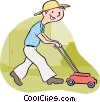 lawn mowers Vector Clip Art picture