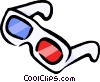 Vector Clipart illustration  of a 3D glasses