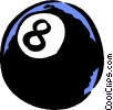 eight ball Vector Clipart illustration
