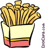 box of French fries Vector Clip Art image