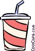 Vector Clipart image  of a Soft drink