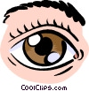 Vector Clip Art graphic  of a human eyes