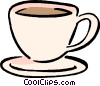 Vector Clipart graphic  of a coffee cups