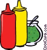 Vector Clip Art image  of a condiments